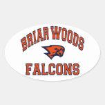 Falcons de maderas del Briar Calcomanías Óvales