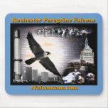 Falcons de peregrino de Rochester del cojín de rat Tapete De Ratones