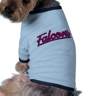Falcons in magenta doggie t-shirt