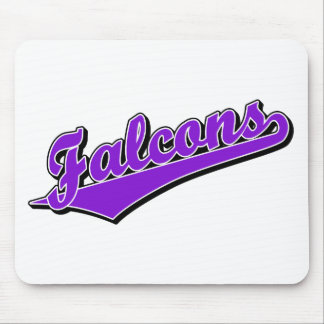 Falcons in Purple Mouse Pad