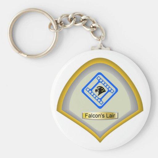 Falcon's Lair Logo Keychain