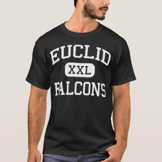 Falcons Littleton medio Colorado de Euclid Playera
