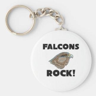Falcons Rock Basic Round Button Keychain
