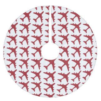 Falda blanca roja del árbol del modelo del falda para arbol de navidad de poliéster