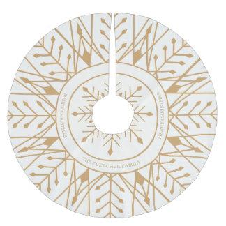 Falda de encargo del árbol del día de fiesta del falda para arbol de navidad de poliéster