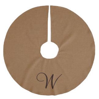 Falda del árbol de la arpillera del monograma falda para arbol de navidad de poliéster