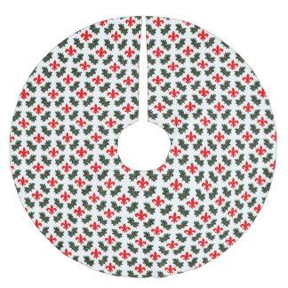Falda del árbol de navidad de la flor de lis y del falda para arbol de navidad de poliéster