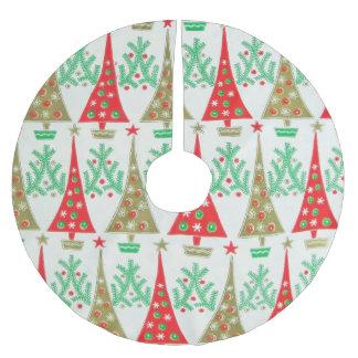 falda del árbol de navidad del dibujo animado de falda para arbol de navidad de poliéster