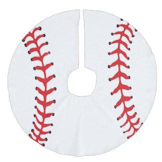 Falda del árbol de navidad del diseño del béisbol falda para arbol de navidad de imitación de lino