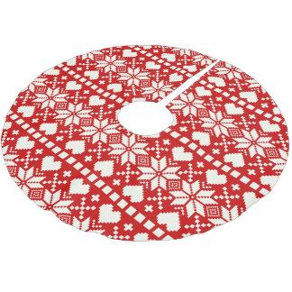 Falda del árbol del día de fiesta del Nordic el | Falda Para Arbol De Navidad De Poliéster