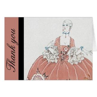 Falda del aro en rosa polvoriento tarjeta de felicitación