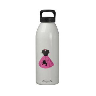 Falda del caniche botella de agua