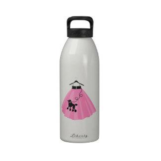 Falda del caniche botella de agua reutilizable