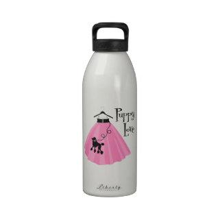 Falda del caniche del amor adolescente botella de beber