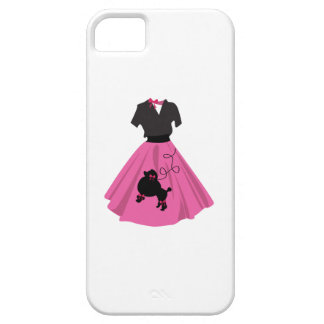 Falda del caniche iPhone 5 carcasas