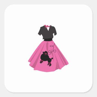 Falda del caniche calcomanía cuadradas personalizadas