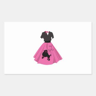 Falda del caniche rectangular altavoces