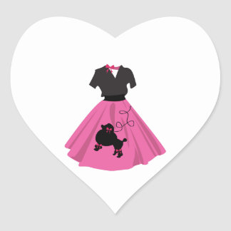 Falda del caniche calcomanía corazón personalizadas