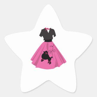 Falda del caniche pegatina forma de estrella personalizadas