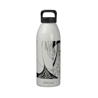 Falda del pavo real de Aubrey Beardsley Botella De Agua Reutilizable