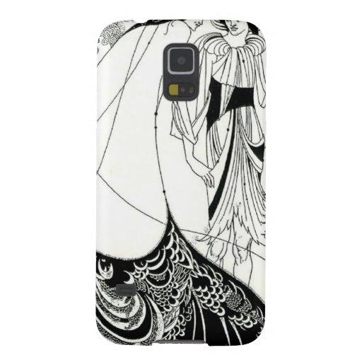 Falda del pavo real de Aubrey Beardsley Carcasas De Galaxy S5
