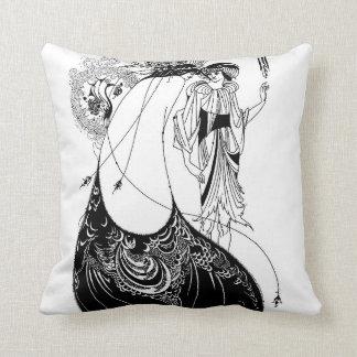 Falda del pavo real de Nouveau Beardsley del arte Cojin