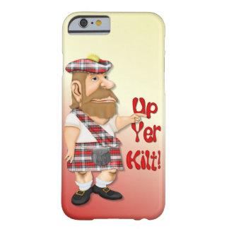 Falda escocesa ascendente del YER Funda Barely There iPhone 6