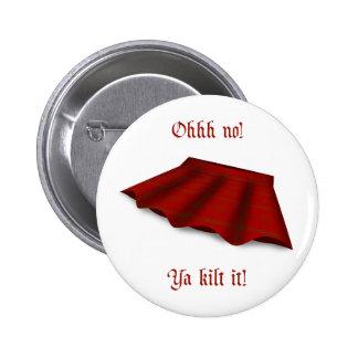 Falda escocesa él botón pin