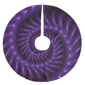 Falda espiral púrpura del árbol del fractal falda para arbol de navidad de poliéster