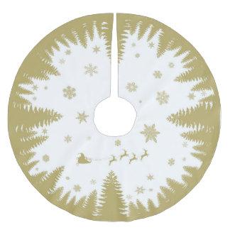 Falda festiva del árbol de navidad del oro