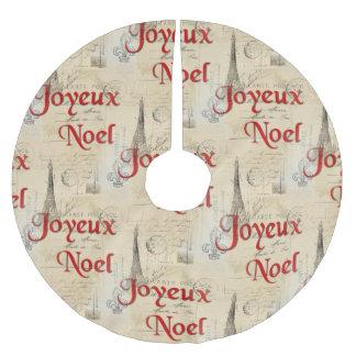 Falda francesa del árbol de navidad de las falda para arbol de navidad de poliéster