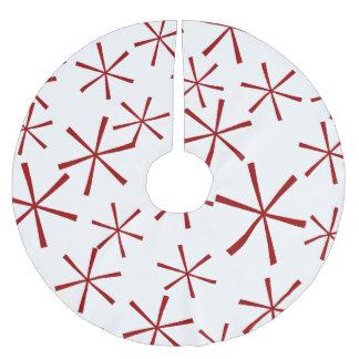 Falda geométrica moderna del árbol del modelo de falda para arbol de navidad de poliéster