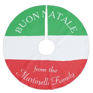 Falda italiana personalizada del árbol de navidad falda para arbol de navidad de poliéster