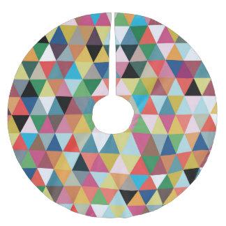 Falda modelada geométrica colorida del árbol de falda para arbol de navidad de poliéster