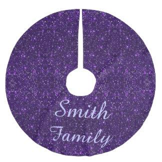 Falda púrpura personalizada del árbol de navidad falda para arbol de navidad de poliéster