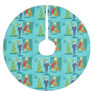 Falda retra del árbol de navidad del dibujo falda para arbol de navidad de poliéster