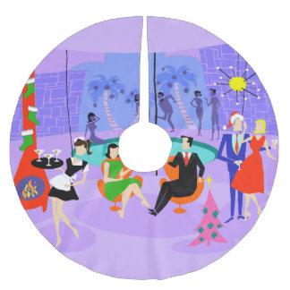 Falda tropical retra del árbol de Navidad de la Falda Para Arbol De Navidad De Poliéster