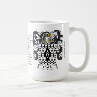 Falk, the Origin, the Meaning and the Crest Coffee Mug