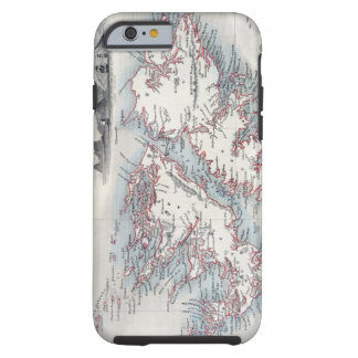 Falkland Islands and Patagonia, from a Series of W Tough iPhone 6 Case