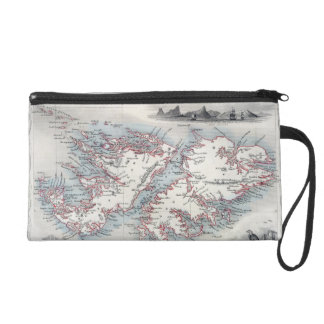 Falkland Islands and Patagonia, from a Series of W Wristlet Purse