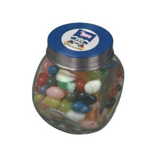 Falkland Islands Glass Candy Jar