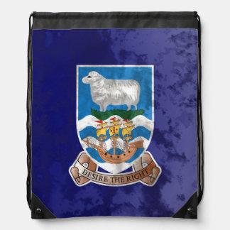 Falkland Islands Drawstring Backpack