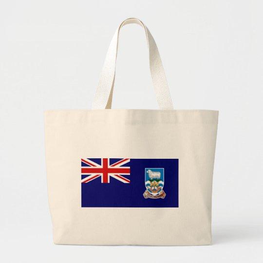 Falkland Islands Flag (Malvinas) FK Large Tote Bag