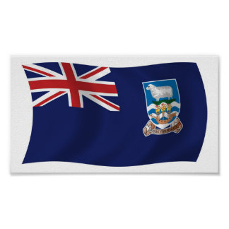 Falkland Islands Flag Poster Print