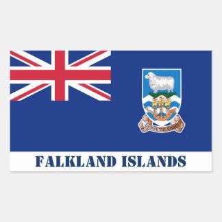 Falkland Islands Flag Rectangular Sticker