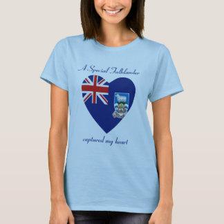 Falkland Islands Flag Sweetheart T-Shirt