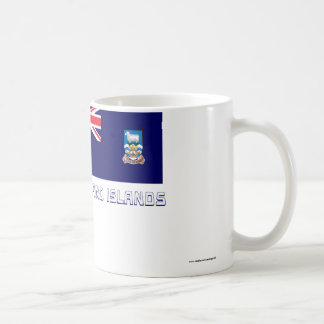 Falkland Islands Flag with Name Classic White Coffee Mug