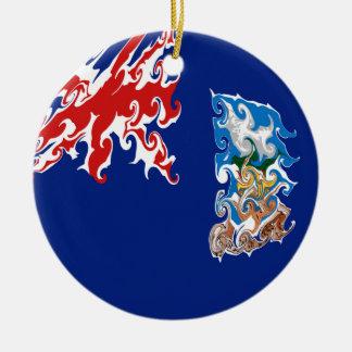 Falkland Islands Gnarly Flag Ceramic Ornament