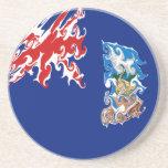 Falkland Islands Gnarly Flag Drink Coaster
