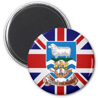 Falkland Islands High quality Flag 2 Inch Round Magnet